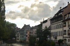Case di Strasburgo, l'Alsazia, Francia Immagine Stock Libera da Diritti