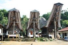 Case di Toraja Fotografie Stock