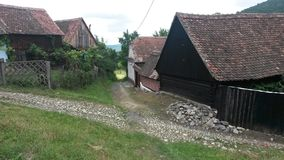Case di Transylvanian Immagine Stock Libera da Diritti
