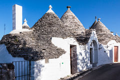 Case di Trulli in Alberobello, Italia Immagine Stock