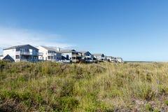 Case di vacanza della spiaggia Immagine Stock