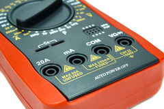 Case digital multimeter closeup on white background Royalty Free Stock Photography