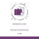 Case With Document Contract Business Web Banner With Copy Space Stock Image