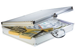 Case with dollars Royalty Free Stock Images