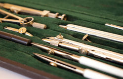 Case of drawing instruments Royalty Free Stock Photo