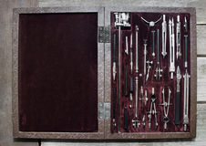 Case of drawing instruments. Royalty Free Stock Images