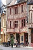 Case e terrazzo a graticcio antichi, Digione, Francia Immagine Stock Libera da Diritti