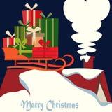Case el ejemplo del vector de la Navidad y del Año Nuevo stock de ilustración
