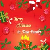 Case el ejemplo del vector de la Navidad y del Año Nuevo ilustración del vector