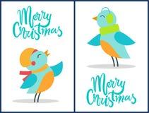 Case el ejemplo fijado los pájaros del vector de la Navidad libre illustration