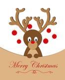 Case el reno de la Navidad ilustración del vector