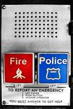In case of emergency. Fire and police emergency Royalty Free Stock Images
