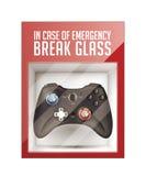In case of emergency break glass Stock Photo