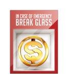 In case of emergency break glass Royalty Free Stock Photo