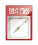 In case of emergency break glass Royalty Free Stock Photos