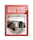 In case of emergency break glass Royalty Free Stock Images