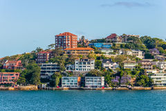 Case esclusive lungo Sydney Harbor Immagine Stock Libera da Diritti