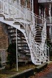 Case esterne Montreal delle scale Fotografia Stock