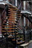 Case esterne Montreal delle scale Fotografie Stock