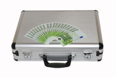 Case with euro Stock Image
