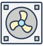 Case fan, computer cooler Isolated Vector Icon That can be easily edited in any size or modified. royalty free illustration