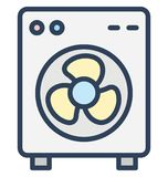 Case fan, computer cooler Isolated Vector Icon That can be easily edited in any size or modified. vector illustration