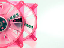 Case Fans Pretty in Pink Royalty Free Stock Photo