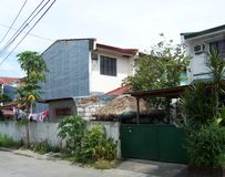 Case filippine fotografia stock