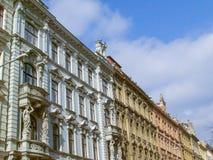 Case floreali di stile di Brno Fotografie Stock