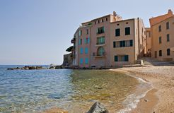 Case fronte mare St-Tropez Fotografie Stock