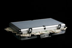 Case full of Cash Royalty Free Stock Images
