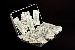 Case full of Cash Royalty Free Stock Photography