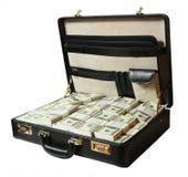 Case full of dollar Stock Photos