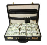 Case full of dollar royalty free stock photo