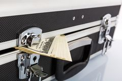 Case full of dollar closeup picture Royalty Free Stock Photo