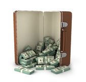 Case full of dollar Stock Photo