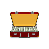 Case full of dollar Royalty Free Stock Photos
