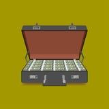 Case full of dollar Stock Image