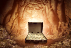 Case full of dollars Stock Image