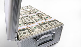 Case full of money Stock Photo