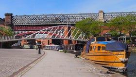 Case galleggianti in Castlefield, Manchester, Inghilterra del Nord immagine stock libera da diritti