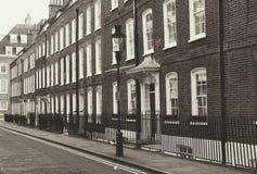 Case georgiane della via di Londra Fotografia Stock Libera da Diritti