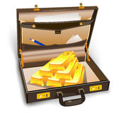 Case with gold stock illustration