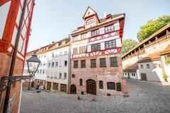 Case a graticcio in Nurnberg, Germania immagine stock