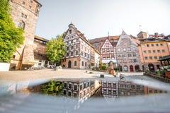 Case a graticcio in Nurnberg, Germania fotografia stock libera da diritti