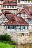 Case a graticcio in Schwabisch Corridoio, Germania fotografia stock libera da diritti