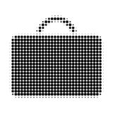 Case Halftone Dotted Icon vector illustration