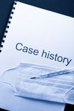 Case history Royalty Free Stock Images