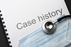 Case history Stock Image