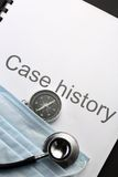 Case history Royalty Free Stock Photo